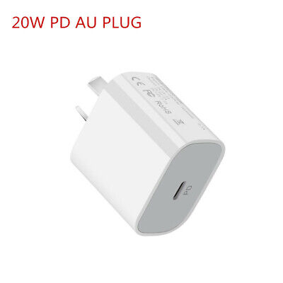 AU8.70 • Buy 20W PD USB C Type C Quick Charger Wall Plug Adapter For IPhone11 12 Mini Pro Max