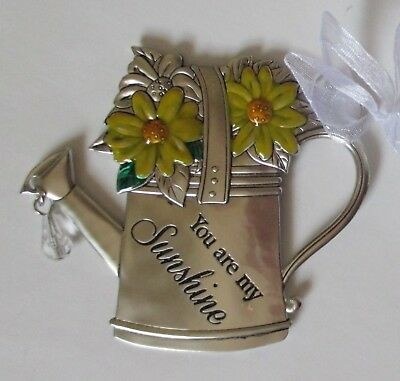 Zz23cd You Are My Sunshine SPRINGTIME WISHES Message Ornament Ganz • 8.95£