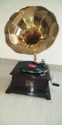 £90.89 • Buy Gramophone Square Brown Colour With Brass Horn ~ Record Player ~78 Rpm.