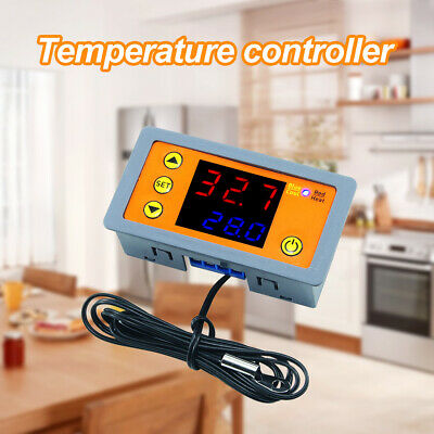 Digital LED Microcomputer Thermostat Controller Switch Temperature Sensor Wi • 8.21£