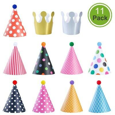 £4.02 • Buy NUOLUX Birthday Party Hat Crown Set Decorations Party Hats With Venonat For Kids