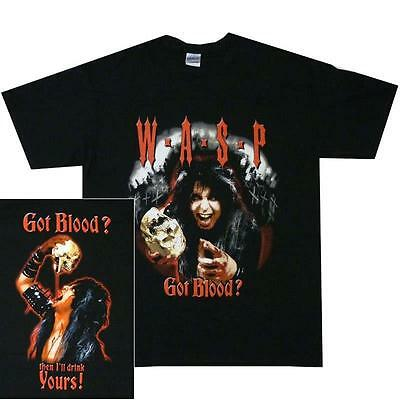 £19.99 • Buy Official Licensed - Wasp - Got Blood? T Shirt Heavy Metal