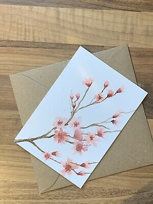 £3.49 • Buy Original Hand Painted  Water Colour  Handmade Card Not A Print
