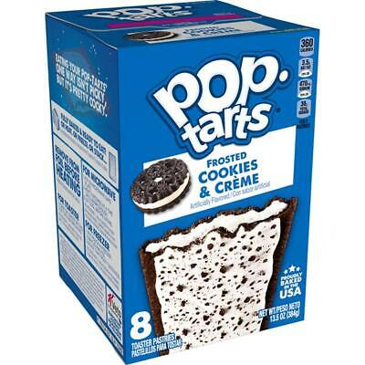Kelloggs Pop Tarts Frosted Cookies & Creme 8 Toaster Pastries 384g BB 3/12/20 • 2.49£