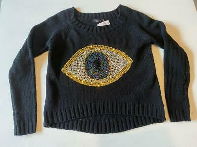 $109.95 • Buy LF Stores 'Millau' Black Evil Eye Sweater~Size Small~New With Tags $168
