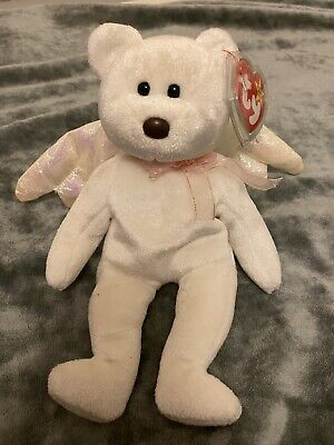 £150 • Buy TY Beanie Baby Halo Brown Nose Soft Toy Angel Bear