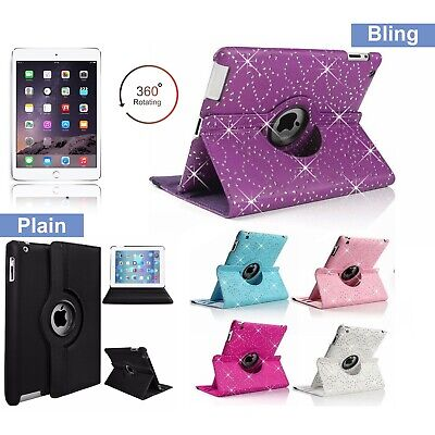 £4.29 • Buy 360 Rotating PU Leather Smart Stand Case Cover For Apple IPad 2/3/4 Air Pro Mini