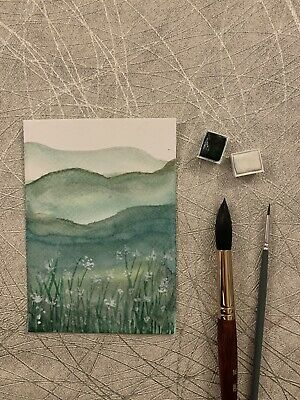 £3.49 • Buy Original  Hand Painted  Water Colour  Handmade Card 6x4 (not A Print)