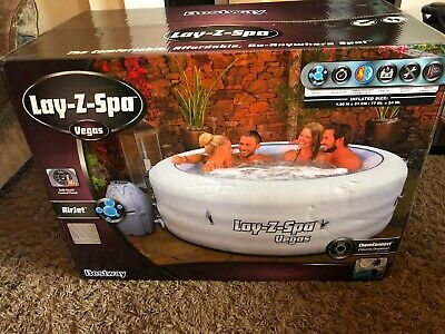Lay-Z-Spa Vegas - Lazy Hot Tub, Inflatable Airjet 4-6 Persons *BRAND NEW* • 525£