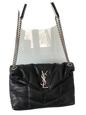 AU850 • Buy Authentic Saint Laurent YSL, Loulou Puffer Quilted Lambskin Shoulder Bag