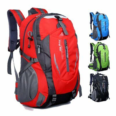 AU23.99 • Buy 40L Hiking Camping Bag Large Waterproof Backpack Outdoor Travel Luggage Rucksack