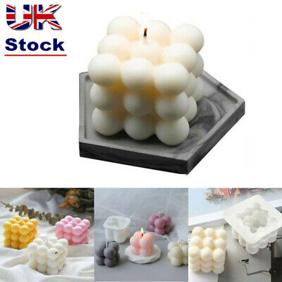 Candles Mould Soy Wax Candle Mold Aromatherapy Plaster Candle 3D Silicone Mold • 4.99£
