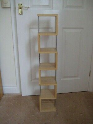 Wooden CD Rack. Wall Mounted 92cm High. Also Use As Shelving Unit For Ornaments. • 5£