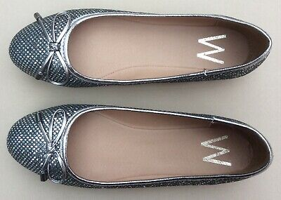 Wallis Ladies Blaise Shoes. Colour: Pewter. Size 4 (37). • 10£