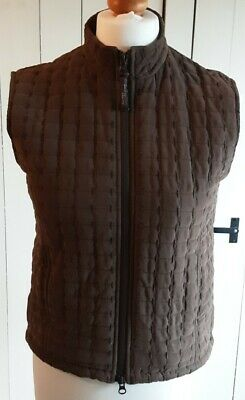 £10 • Buy Jack Murphy Womens Brown Quilted Gilet Size 8