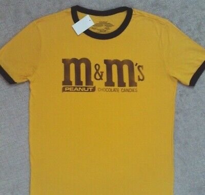 $15.99 • Buy M&M's Peanut Candy Ringer T Shirt _ New With Tags _ Licensed Product
