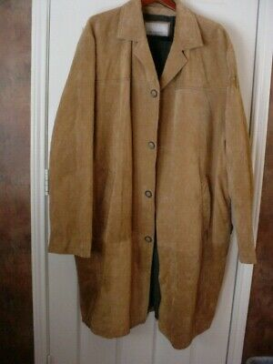 $99.99 • Buy WILSON'S LEATHER - M Julian - Brown Suede - Full Length Coat - Size 3XL - GUC