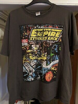 Star Wars Empire Strikes Back Men's T-Shirt XXL Charcoal Grey • 2£