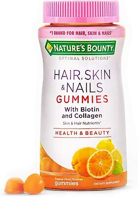$8.80 • Buy Nature's Bounty Hair, Skin & Nails With Biotin And Collagen 80 Gummies