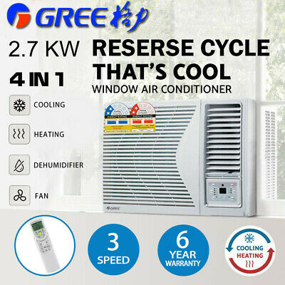 AU928.10 • Buy 2020 Gree 2.7kw 230v Window Wall Box Reverse Cycle Refrigerated Air Conditioner