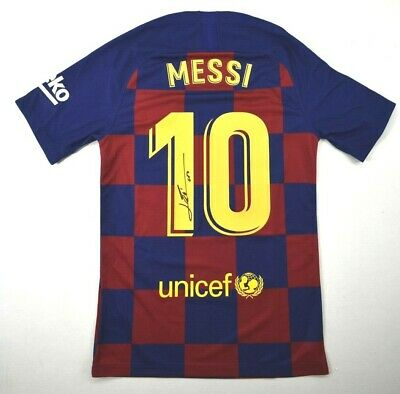AU736.23 • Buy Lionel Messi Signed Barcelona Nike Jersey Inscribed Leo Icons COA Autograph