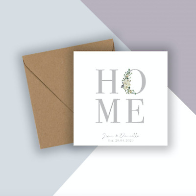 Personalised New Home Card, House Warming Card, New Home Card, New House Card • 3.49£