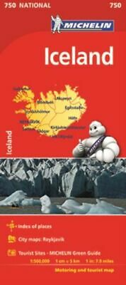 Iceland - Michelin National Map 750 BNEW  • 9.26£