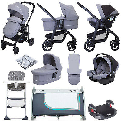 Graco Evo (SnugEssentials Car Seat) Everything You Need Travel System Bundle Wit • 780£