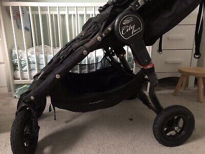 Baby Jogger City Mini GT Black/Black All Terrain Double Buggy Stroller Pushchair • 200£