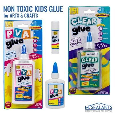 151 Kids Clear Glue PVA Glue Stick For Arts Crafts School Non Toxic Washable • 4.79£