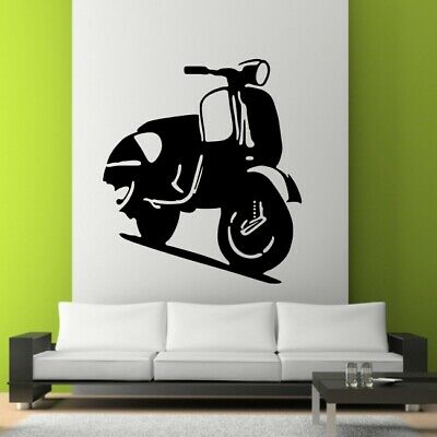 £11.43 • Buy MOPED SCOOTER Wall Sticker Vespa Sexy Hipster Stickers Car Stickers Art Vinyl