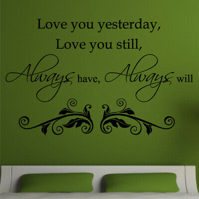 LOVE Wall Art Stickers Always Have Decal Bedroom Large Mural Lounge Vinyl Quote • 11.01£