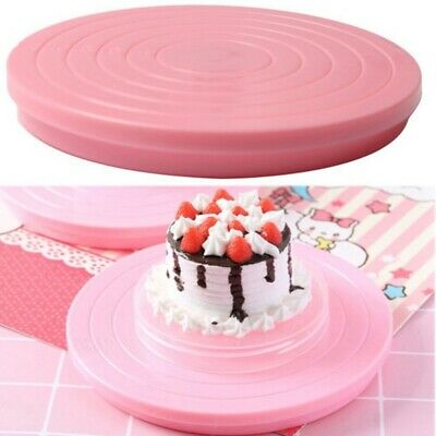 14cm Platform Revolving Decoration Rotating Cake Stand Baking Plate Turnta • 2.87£