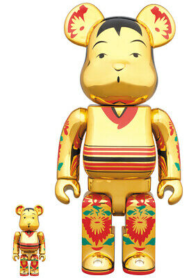 $269.01 • Buy Mint Medicom Toy Be Rbrick Coke Brick Gold Plate 100 400 Bearbrick Kokeshi