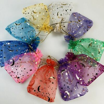 £3.37 • Buy 50pcs ORGANZA BAGS Wedding Party Favour Gift Candy Jewellery Pouch Large Small