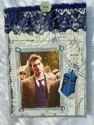 Doctor Who Homemade Notebook, Tenth Doctor, Blue • 2.50£