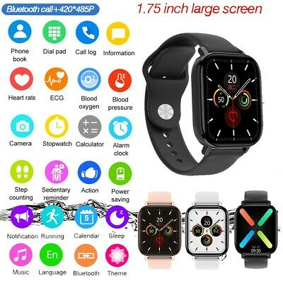 $ CDN48.34 • Buy 2021 1.75' Full HD Smartwatch Answer/Make Call IPhone Android Pedometer Watch UK