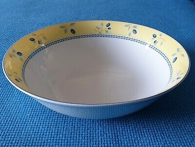 Royal Doulton *blueberry* (yellow Rim) 9.3  Serving Bowl #excellent Used# • 12.95£