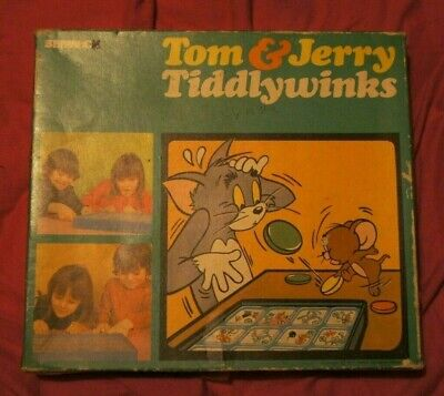 £8 • Buy TOM & JERRY Vintage 1970s Tiddlywinks Game By Berwick Complete