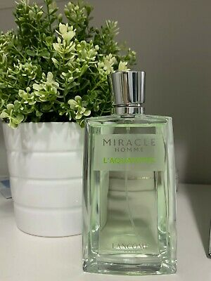 Miracle Homme L'Aquatonic Lancome 125 Ml Eau De Toilette  LITTLE USED AS SHOWN • 76.69£