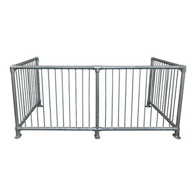 Crowd Control Barrier Key Clamp Galvanised Metal Fence Panel Posts & Gate • 35.94£