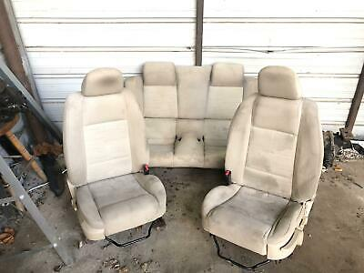 $499 • Buy 2005-2007 Ford Mustang Beige Manual Logo Seats Oem Needs Cleaned No Rips Oem