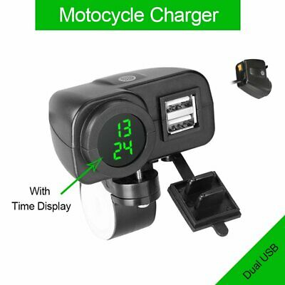 Dual USB Charger Socket Adapter Power Outlet 12/24V DC Car Motorcycle Waterproof • 10.59£