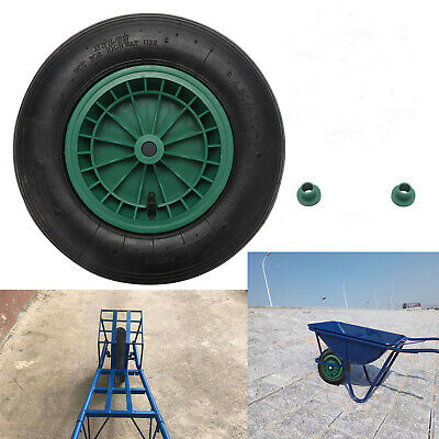 14  Wheelbarrow Wheel Pneumatic 4.80/4.00-8 Inflatable Tyre With Axle Fittings • 13.19£