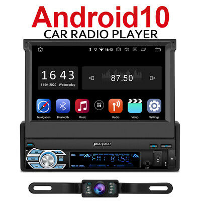 AU369.99 • Buy 7  Android 10.0 Car Radio Stereo Single Din GPS Navi BT WIFI USB OBD2 DAB Camera