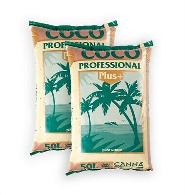 2 X Canna Coco Professional Plus 50L Bags Growing Medium  *FREE DELIVERY • 28.95£