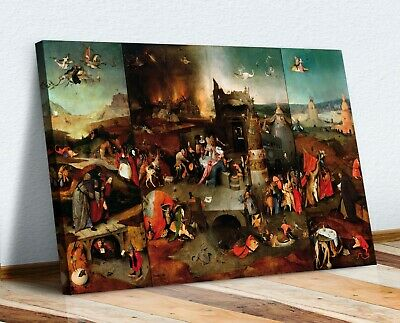 £33.99 • Buy CANVAS WALL ART PRINT ARTWORK PAINTING The Temptation Of St. Anthony Bosch