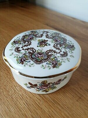 Beautifully Detailed Crown Devon Floral Design Trinket Box For Fortnum And Mason • 12.95£