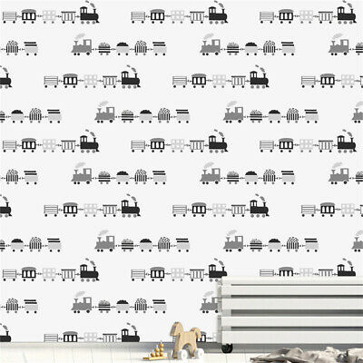 Children's Bedroom Home Decorations Train Furniture Wall Stickers Wallpapers • 11.39£