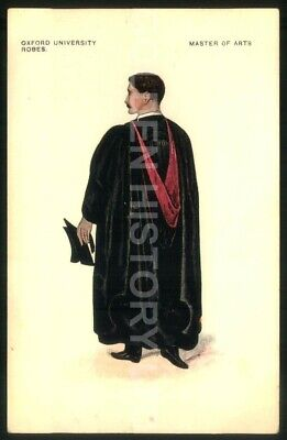 £4.49 • Buy Oxford University Robes Master Of Arts Picture Postcard